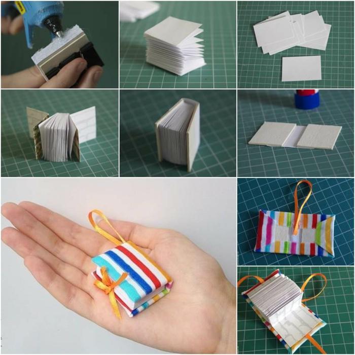ein buntes Buch selber harstellen und als DIY Schlüsselanhänger benutzen