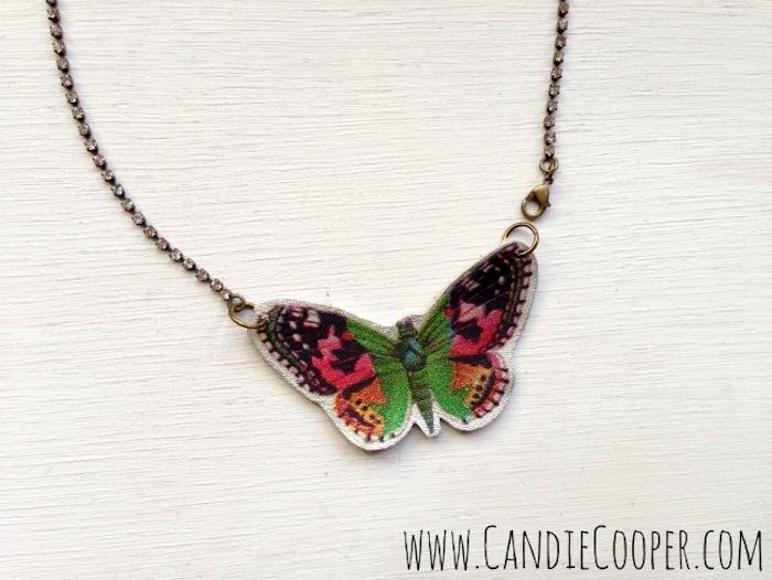 Halskette mit Schmetterling Anhänger, DIY Projekt für Erwachsene, Schmuck selber machen