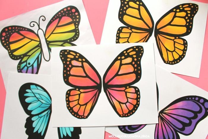 Schmetterling Vorladen drucken lassen und vorsichtig ausschneiden