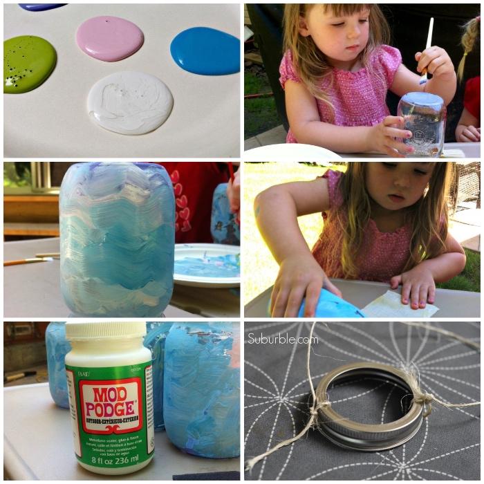 upcycling ideen zum selbermlachen, basteln mit kindern, windlicht aus einmachglas