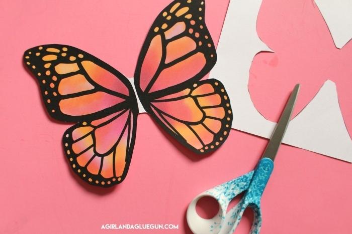 Schmetterling Vorlagen drucken lassen und ausschneiden, kreative DIY Idee zum Nachmachen