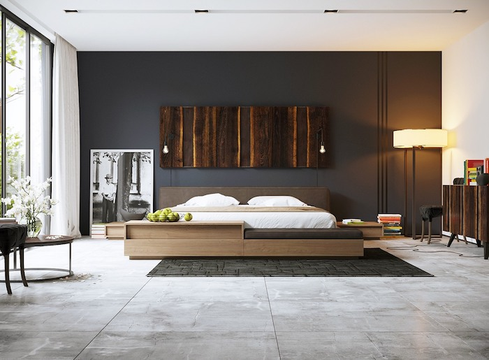1001 atemberaubende ideen f r wandfarbe grau. Black Bedroom Furniture Sets. Home Design Ideas