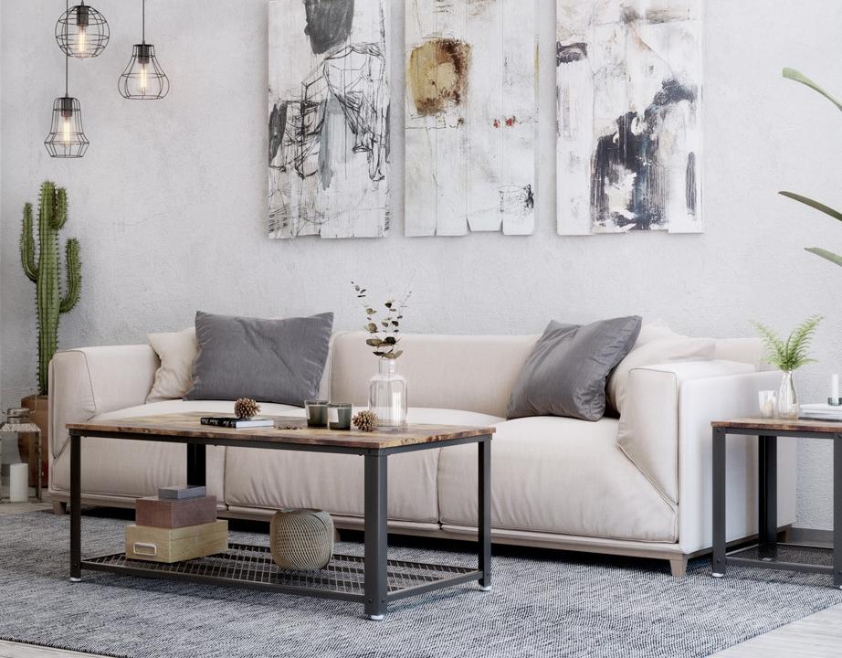 ▷ Wohnzimmer im Vintage-Stil einrichten und dekorieren