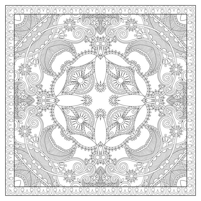 ein großes bild mit vielen kleinen schwarzen und weißen blumen und kleinen vielen weißen weißen blättern, blumen vorlagen zum ausdrucken