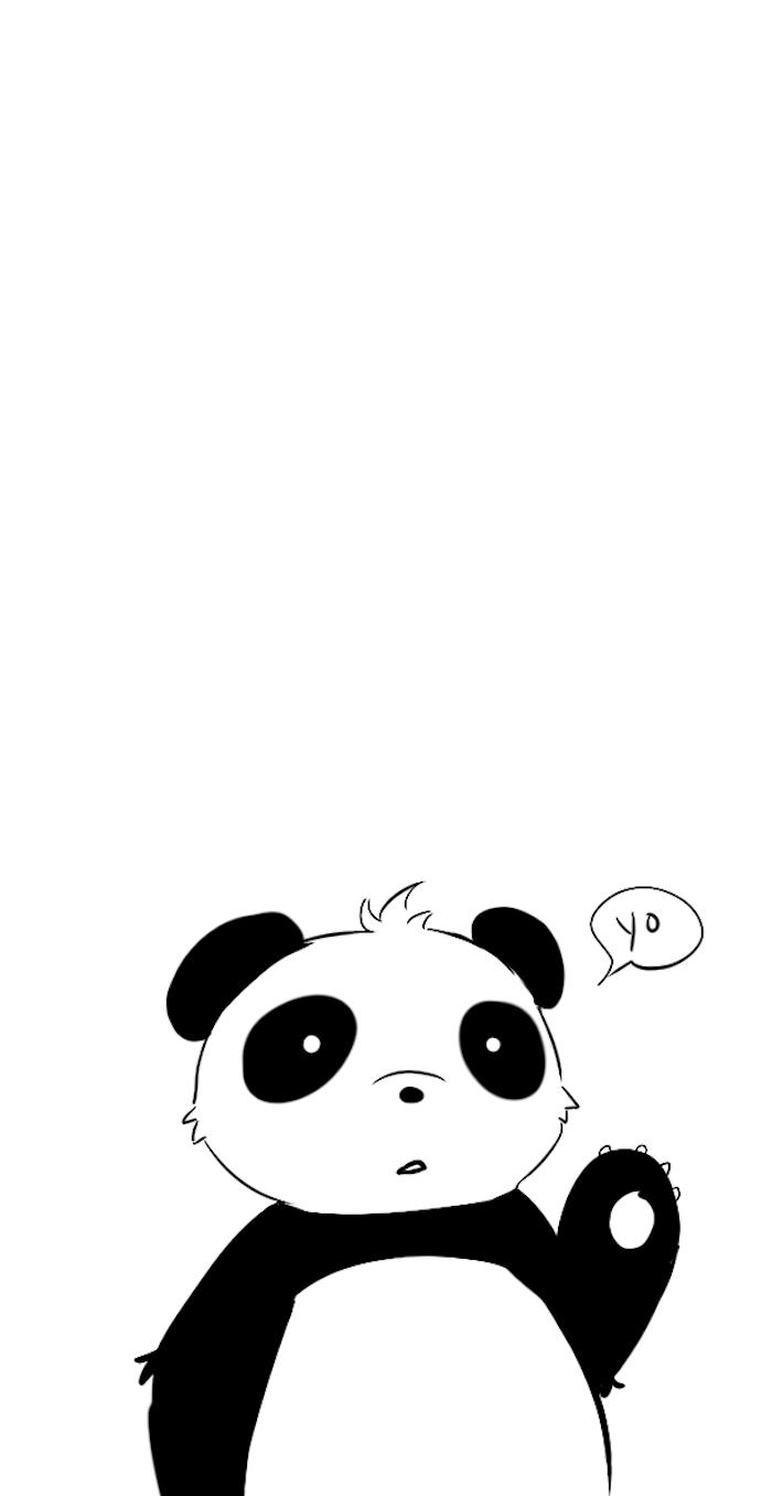 Leichte Zeichnungen zum Nachmalen, Panda selber malen, Panda sagt Yo