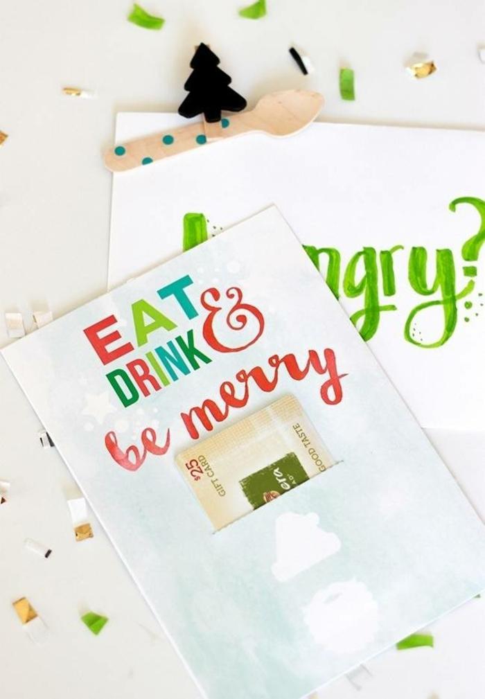 Geschenkgutscheine verpacken, wenn Sie Hunger haben, bekommen Sie ein Gutschein für Restaurant