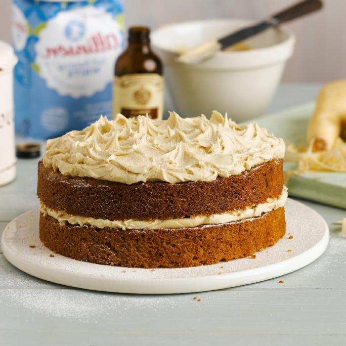 Kuchen Rezepte einfach und schnell, ein Schokoladenkuchen mit Hazelnuss Creme