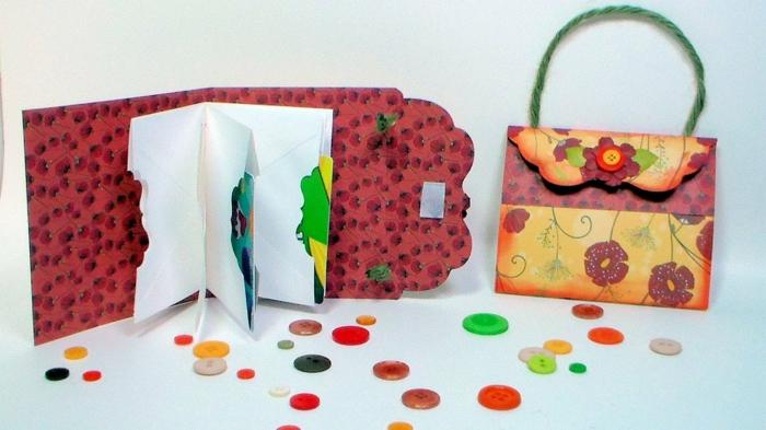 Gutschein selber machen und in einer schönen Schachtel verpacken wie Damentasche