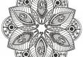 Schöne Mandala Blumen zum Ausdrucken