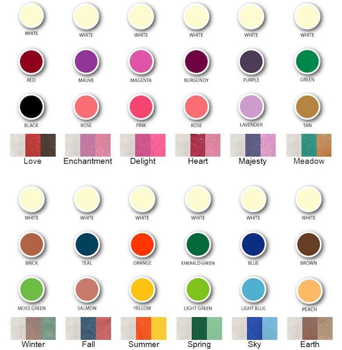 farbpalette grün, verschiedene farben und farbkombinationen, zusammenpassende nunancen