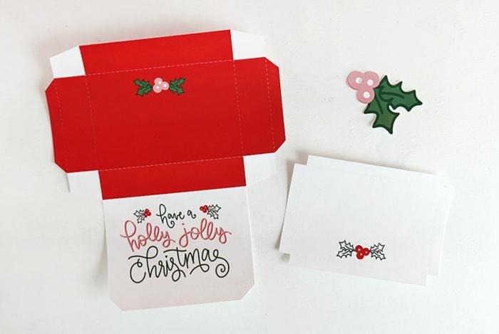 die Vorlage für das Basteln von der Schachtel, kleine Buchstaben auf dem Karton, Gutschein verpacken