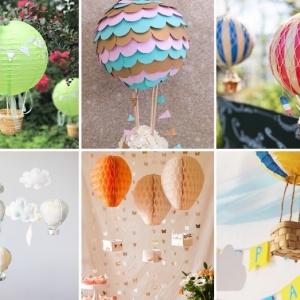 Heißluftballon basteln: 81 kreative Bastelideen