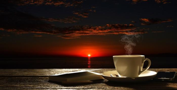 Kaffee am Morgen früh