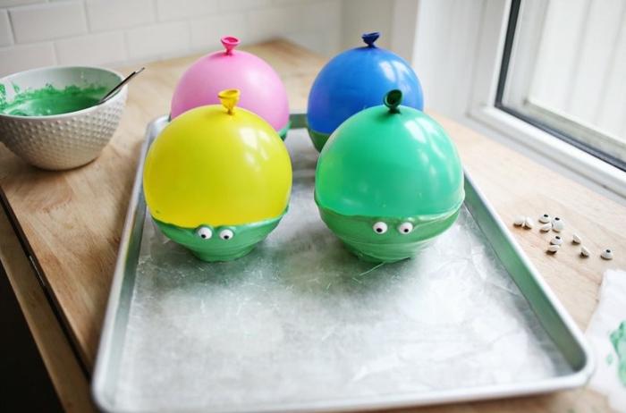 Schüsseln als die Ninja Turtles selber machen, DIY für Kinder, Bonbons darin füllen
