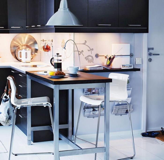 kleine zimmerrenovierung kuche blau design, ▷ 1001 + ideen für kleine küchen zum inspirieren, Innenarchitektur