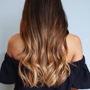 Ombre Braun - die angesagte Haarfärbetechnik
