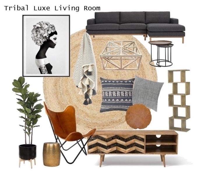 elemente im raum, wohnzimmer einrichten ideen, beige dekorationen und möbel, wandbild schwarz weiß