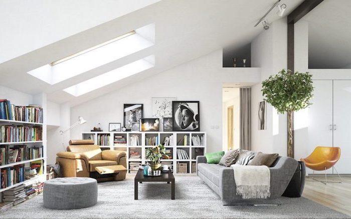 ideen wohnzimmer für dachgeschosswohnungen, wohnung mit dachschräge einrichten