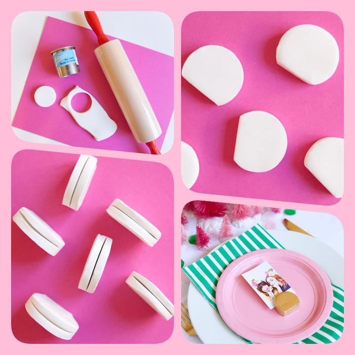 Kartenhalter aus Fimo in Form von französischen Macarons selber machen, DIY Anleitung in vier Schritten