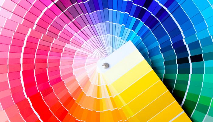 welche farben passen zusammen, große farbpalette mit vielen farben, kalte und warme nunancen