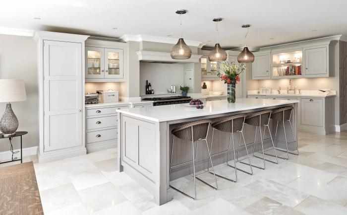 moderne kücheneinrichtung, deisgner möbel, wohnungseinrichtung ideen, große kücheninsel