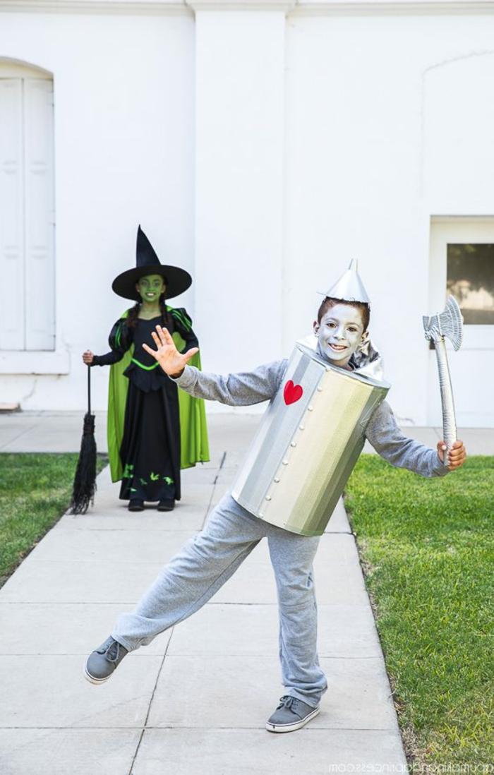 Blechmann und die böse Hexe, Kinderschminke für Halloween zu den Kostümen