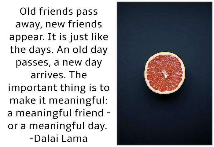 guten morgen bild mit einer orange und einem schwarzen tisch, guten morgen bilder für whatsapp kostenlos, bild mit einem zitat von dalai lama