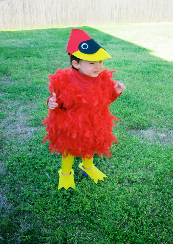 Angry Birds Hauptheld, ein rotes Kükenkostüm von Kleinkind, schnelles Halloween Kostüm
