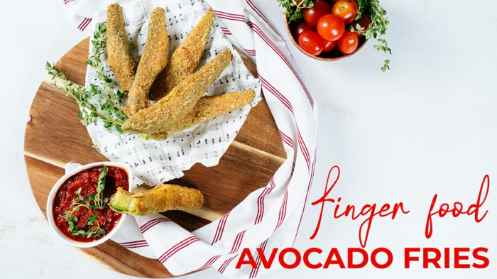 fingerfood ideen, knuspringe avocado fries selber machen, schritt für schritt