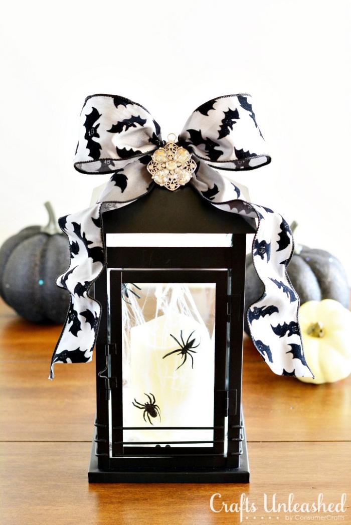 laternen basteln, halloween deko für draußen, diy tutorials für 31. oktober, weiße kerze