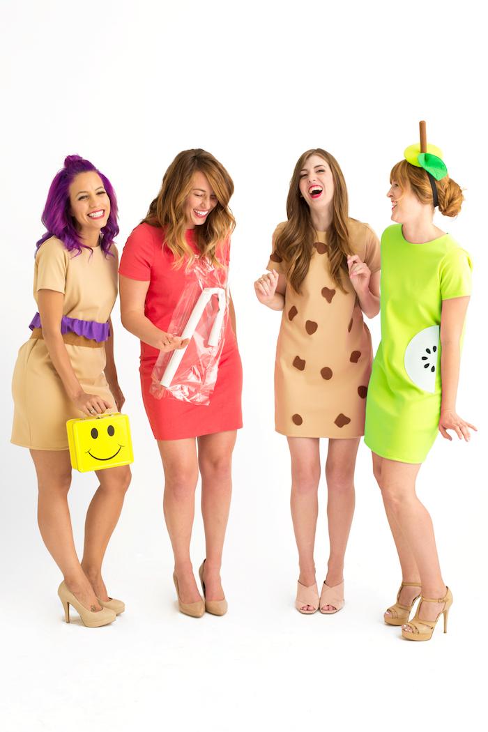 Coole Last Minute Kostüme für vier Freundinnen, Mittagessen zum Mitnehmen in die Schule