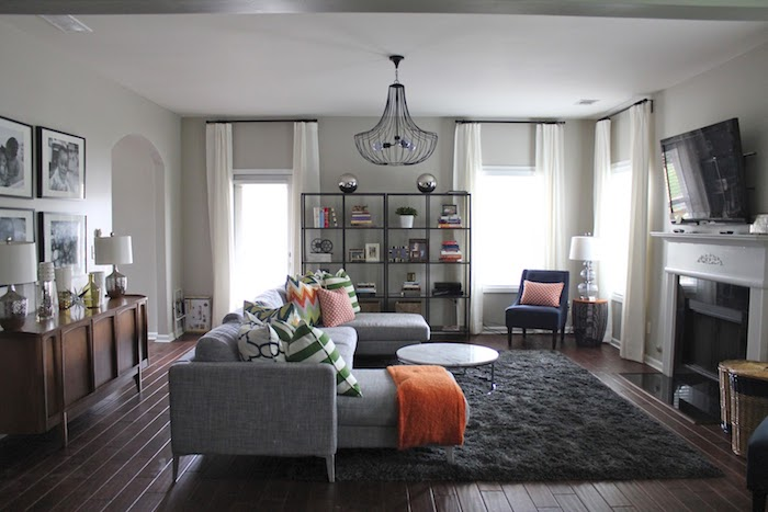 satteldach modern ideen für das heutige haus, innengestaltungsideen, graue zimmergestaltung, wohnzimmer grau