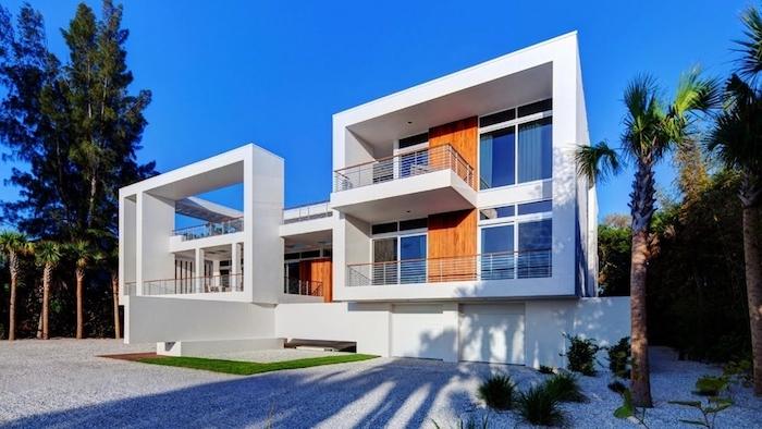 grundriss haus, ideen für villa ausßerhalb der stadt, weiße architektur, ideen palmen