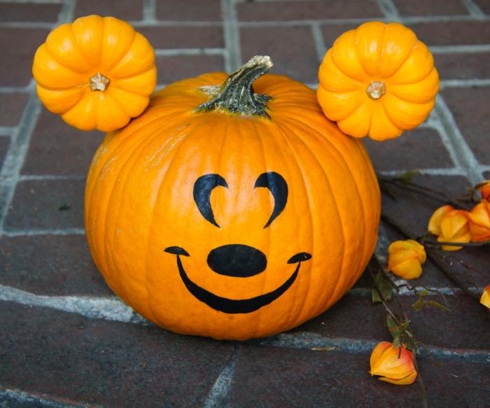 lustige kürbisse selber machen, bärchen basteln, diy deko zu halloween, tutorial