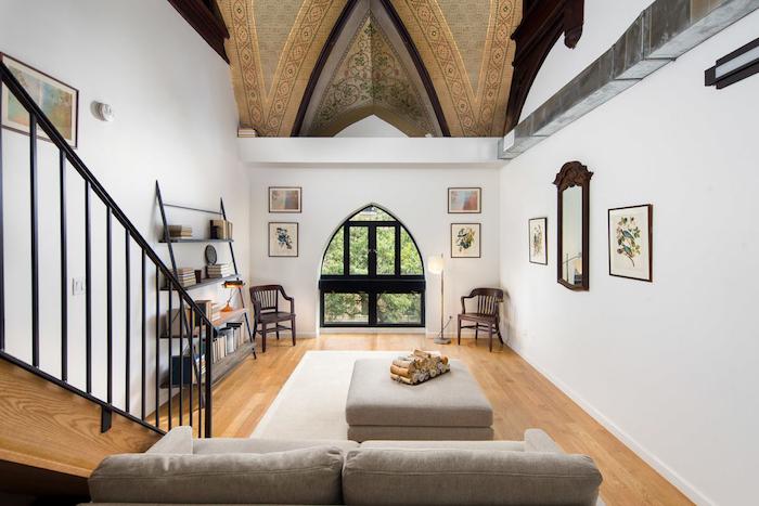 schöne häuser innen und außen, dachgeschosswohnung in einem haus, interieurdesign idee