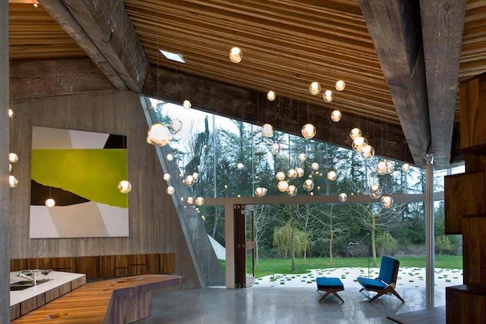 stadtvilla mit garage ideen für das moderne innendesign zu hause, viele schöne lampen, deko und beleuchtung gleichzeitig