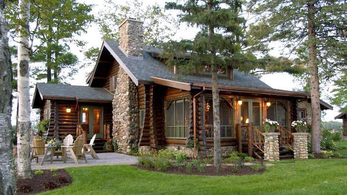 massivhaus bauen preise, wald, gebirge, hausdesign robust und wild, steinoptik, holz, naturmaterialien
