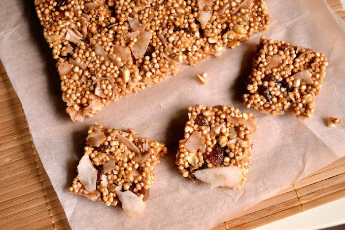 süße rezepte mit quinoa, nachtisch oder snacks zwischen den speisen, süße bars