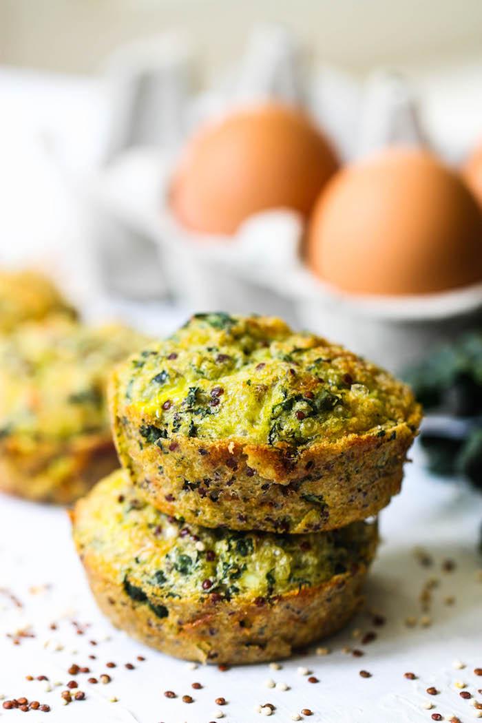 muffins rezept quinoa, eier, spinat, quinoa, snack zum mitnehmen, easy rezepte
