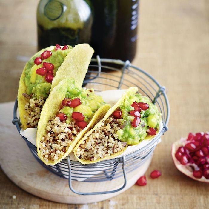 quinoa rezepte vegan tacoideen, tortillas, maisbrötchen mit quinoa, gesund vegetarisch