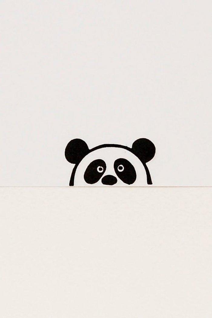 Leichte Zeichnungen für Anfänger, wie zeichnet man einen Panda, süßes Bild zum Nachmalen