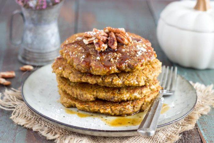rezeptinspiration für quinoa süß große plätzchen mit ahorn sirup und nüsse
