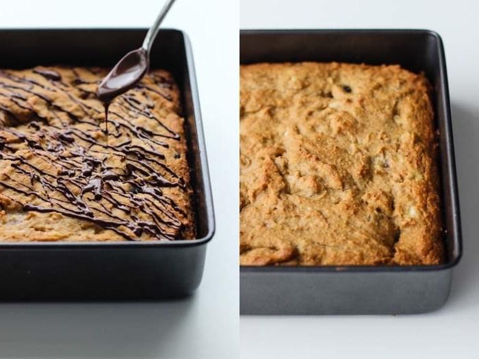 suße quinoa rezept einfach, kuchen aus quinoa mit schokolade, löffel deko aus schokolade
