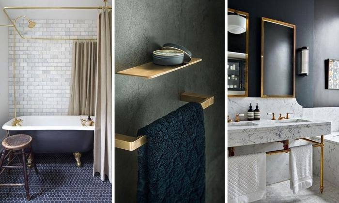 zimmer einrichten ideen, badezimmer gestalten, moderne möbel, wachbecken aus marmor, mosaikfliesen