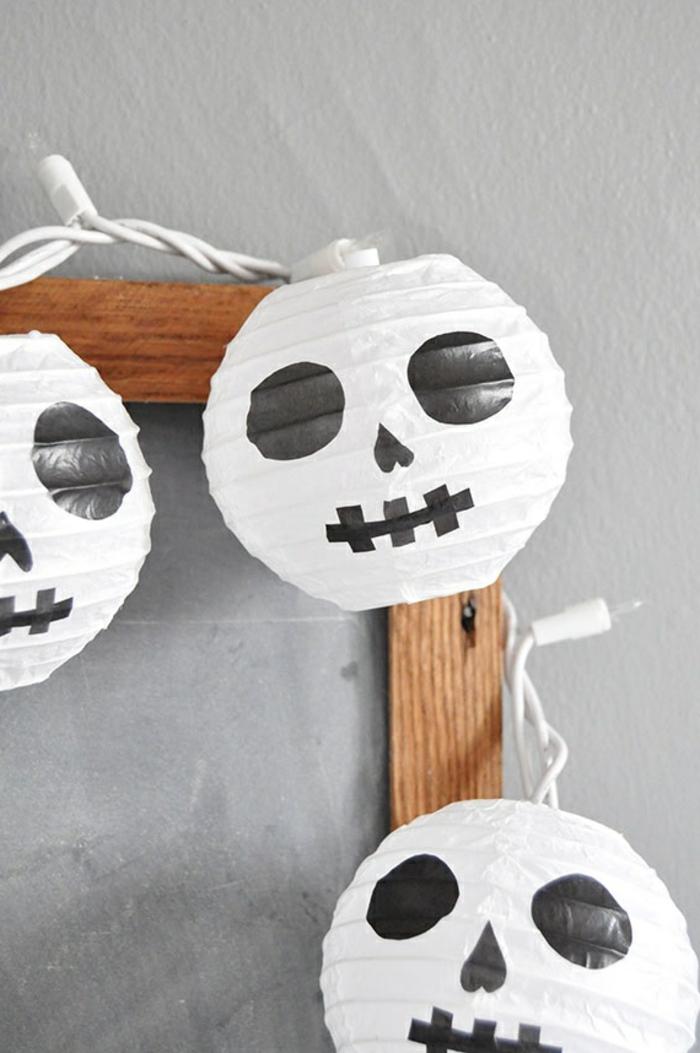 Bastelset Laterne für Mumien aus kleinen Laternen mit Augen, Nasen und Münde