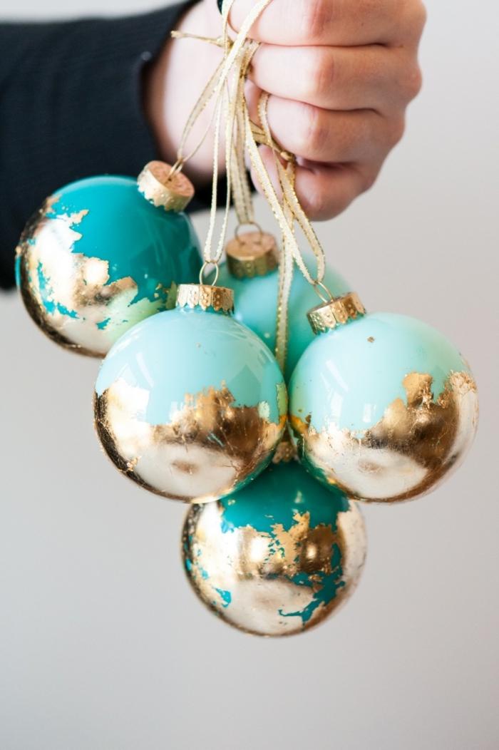 Christbaumkugeln selbst bemalen, kreative DIY Ideen für Kinder und Erwachsene, basteln für Weihnachten