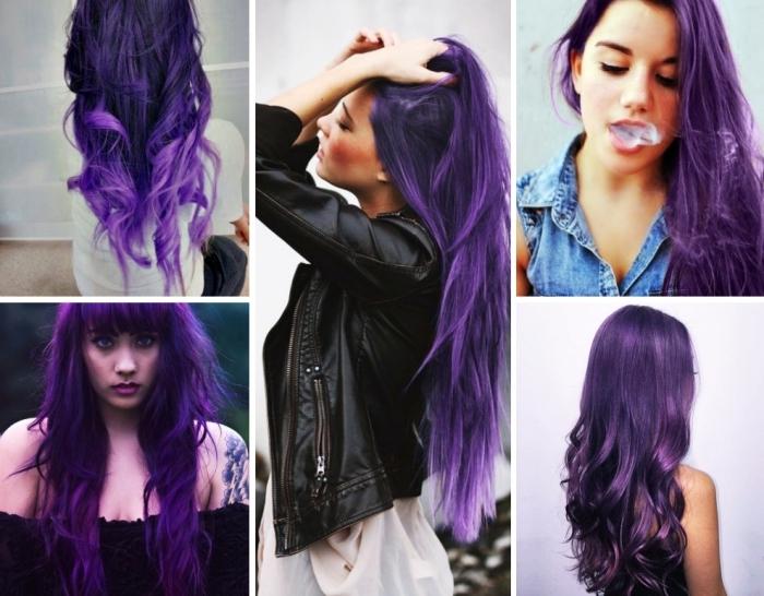 haarfarbe violett, fünf schöne ideen zum gestalten von den haarfrisuren, farbideen