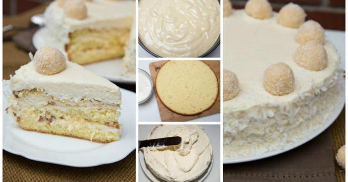 eine ausführliche Anleitung, wie Sie diese Torte selber backen und mit Creme bedecken