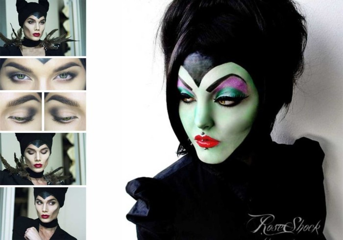 die böse hexe, schwagermutter von schneewittchen, halloween schminktipps, grünes gesicht schminken anleitung