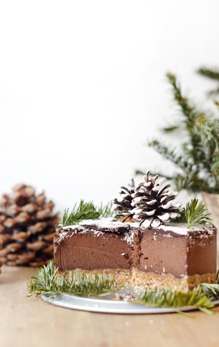 eifnacher schokoladenkuchen zu weihnachten zubereiten, nachtisch mti schokolade
